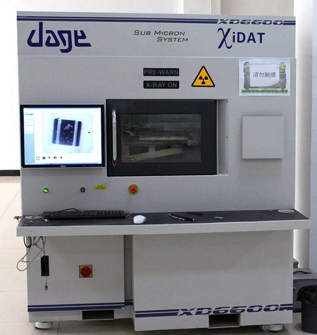 采用X射线技术检测内胆,外壳
